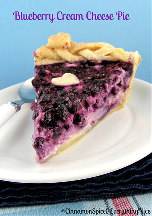 Blueberry Cream Cheese Pie recipe | Chefthisup