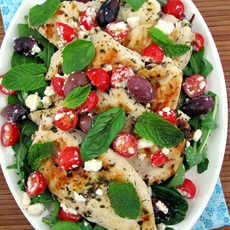 Greek Chicken with Kalamata Olives and Feta