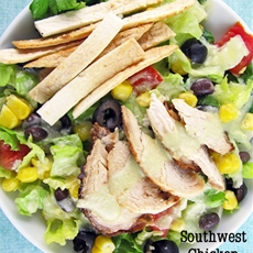 Southwestern Chicken Salad with Black Beans and Corn