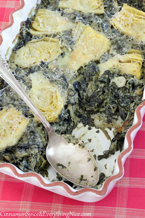 Spinach, Artichoke & Cream Cheese Casserole recipe ...