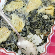 Spinach, Artichoke & Cream Cheese Casserole