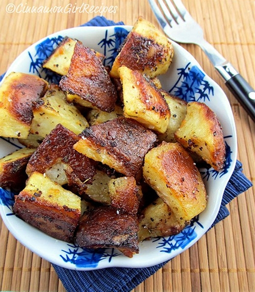 Roasted Mustard Potatoes