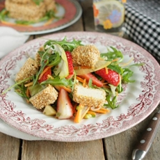 Sesame Tofu Salad with Ginger Vinaigrette