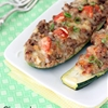 Cheeseburger Stuffed Zucchini