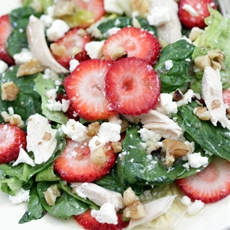 Strawberry and Chicken Spinach Salad