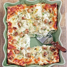 Artichoke Chicken and Spinach Lasagna
