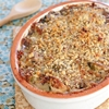 Brussels Sprouts Goat Cheese Gratin