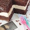 Devils Food Cake with Peanut Butter Filling