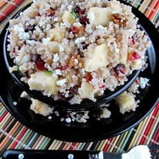 Quinoa with Apples, Cranberries and Feta Cheese