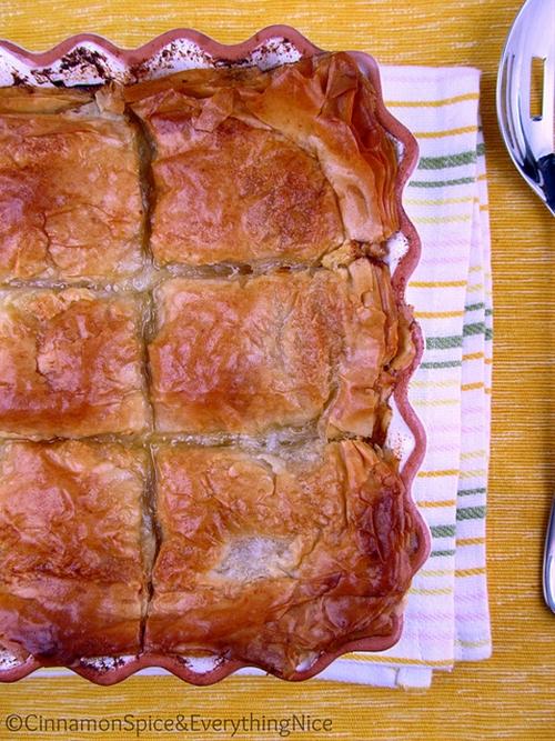 Greek Chicken Phyllo Pie: Kotopita