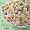 Lemon Chicken Pasta with Artichokes and Feta