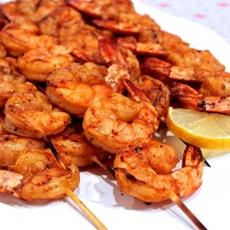 Skewered Fired-Up Grilled Shrimp