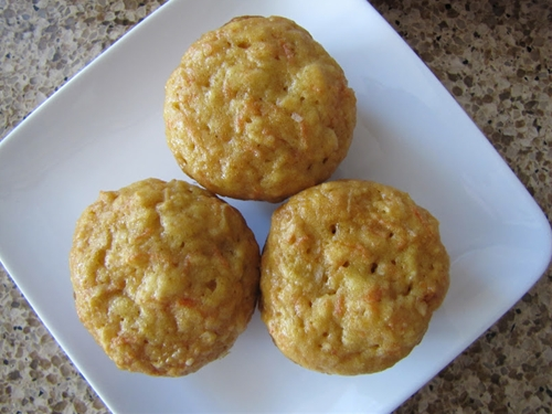 Carrot-Apple-Coconut Muffins