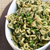 Pesto Pasta Salad with Peas, Pine Nuts & Pecorino Romano