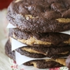 Chocolate Fudge Peanut Butter Cookie Stuffed Cookies