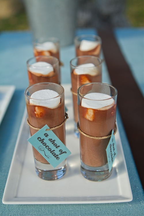 Homemade hot chocolate shots