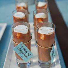 Homemade hot chocolate shots