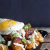 Bacon, egg, and cheese breakfast totchos