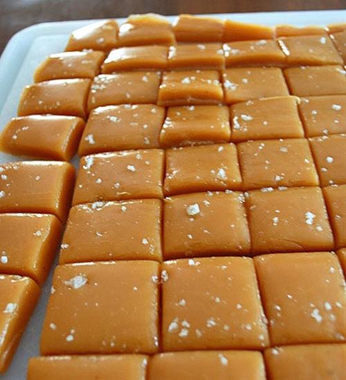 Sea Salt Caramels dipped in Dark Chocolate