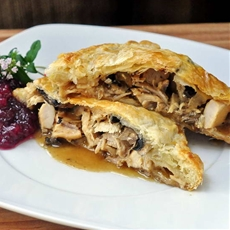 Leftover Turkey Mushroom Turnovers