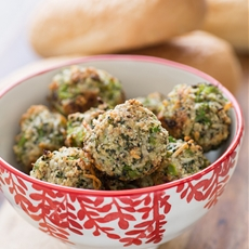 Broccoli parmesan meatballs