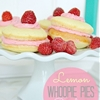 Easy Lemon Whoopie Pies with Fresh Raspberry Filling- yum!