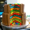Kit Kat and M & M Rainbow Cake