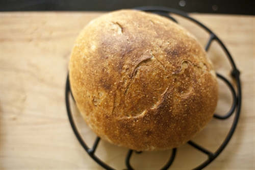 Homemade bread in the crockpot