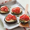 Tosca Renos pesto-stuffed portobello pizzas