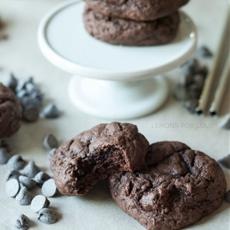 Chocolate Brownie Cheesecake Cookies