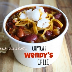 Copycat Wendys Chili Recipe