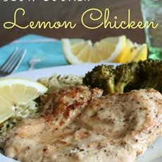 Slow Cooker Lemon Chicken with Broccoli