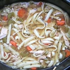 Grandmas Slow Cooker Turkey Noodle Soup