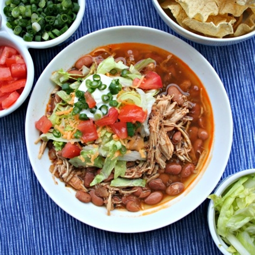 Skinny slow cooker burrito bowls