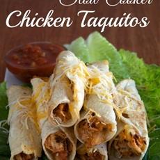 Slow Cooker Salsa Chicken Taquitos