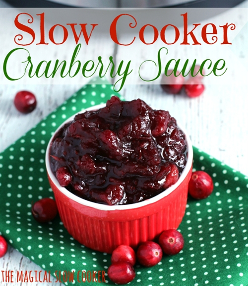 Slow Cooker Cranberry Sauce