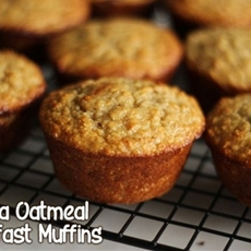Banana Oatmeal Breakfast Muffins