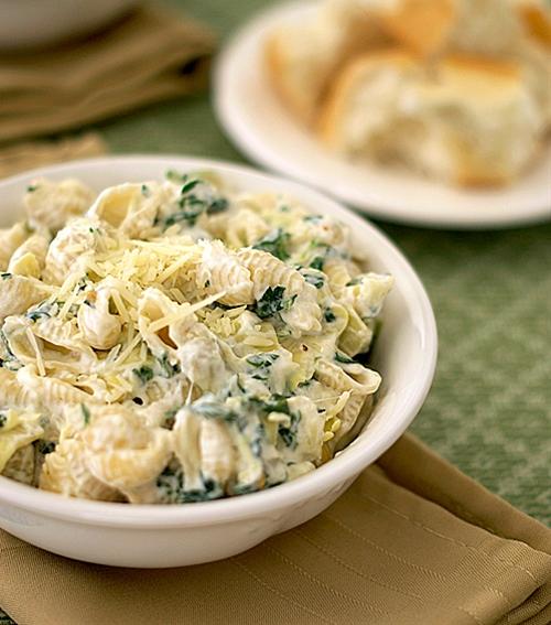 Spinach Artichoke Dip Pasta