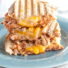 Three Cheese BBQ Chicken Paninis