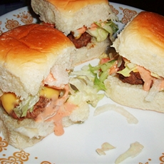 Mini Sliders Burgers and Special Sauce