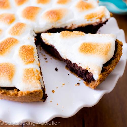Mores Brownie Pie recipe | Chefthisup