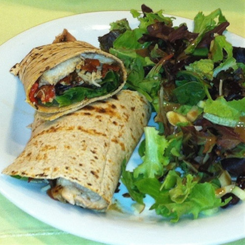 Grilled Chicken and Veggie Wrap