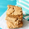 Dulce de leche cookie bars!