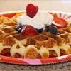 Buttermilk Belgian Waffles & Butter Syrup