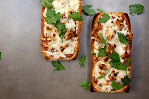 Sausage and Cheese French Bread Pizza