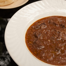 Beef goulash - gulasch or gulyás