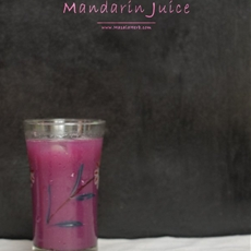 Red Cabbage Grape and Mandarin Juice Homemade