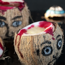 Fruity coconut head juice - halloween special