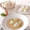 vegetable consommé with semolina dumplings