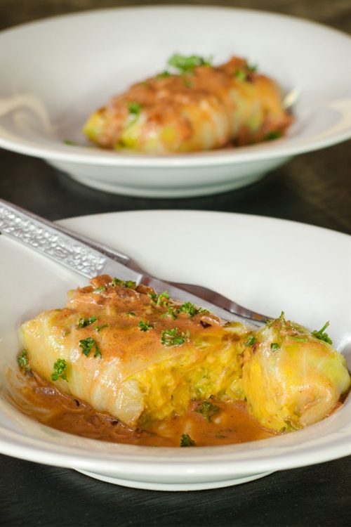 Vegetarian stuffed cabbage rolls recipe
